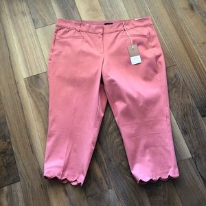 Pink Slim Crop Pants